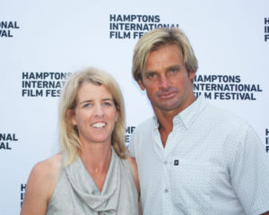 Rory Kennedy and Laird Hamilton at Gurney's as part of the Hamptons International Film Festival SummerDocs program, August 2017