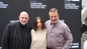 Alec Baldwin and Brian DePalma and daughter Piper